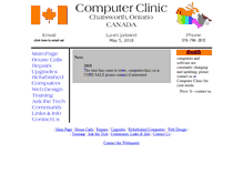 Tablet Preview of computerclinic.on.ca